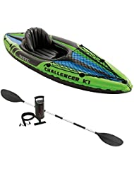 Intex Challenger K1 68305 - Kayak inflable con remo New Green Model
