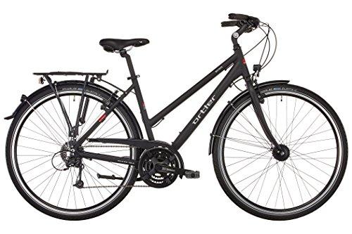 Ortler Mainau Damen schwarz matt Rahmengröße 48 cm 2017 Trekkingrad