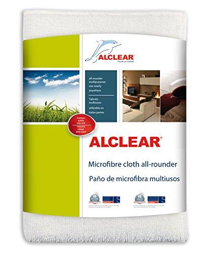 ALCLEAR 950007 Panno Multiuso in Microfibra, Dimensioni: 32 x 32 cm, Bianco