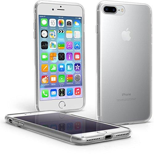 igadgitz U5831 PC e TPU Hybrid Protettiva Graffio Resistente Custodia Per Apple iPhone 7 Plus Rigida Case Cover Con Protezione Paraurti Gel Skin Bumper e Pellicola - Trasparente Chiaro