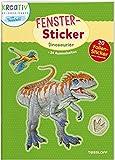 Fenster-Sticker. Dinosaurier: 24 Ausmalseiten, 20 Folien-Sticker (Malbücher und -blöcke)
