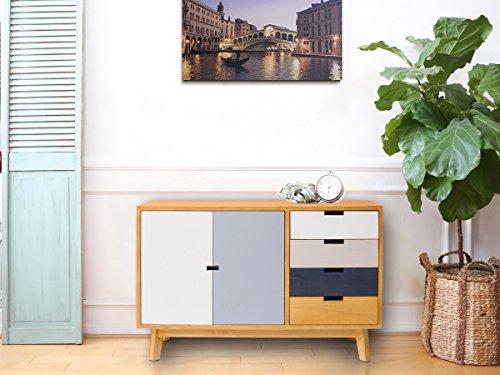 Credenza Con Cassetti Colorati : Mobili rebecca® armadietto credenza 2 ante 4 cassetti marrone bianco