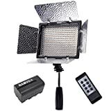 YONGNUO YN-300 III YN300 III Pro LED-Videoleuchte 3200K-5500K Farbtemperatur für Canon Nikon DSLR-Kamera DV und Camcorder mit NAMVO NP-F750 Akku und Ladegerät