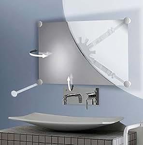 Support miroir orientable multidirectionnel Chromé 047591 Pellet