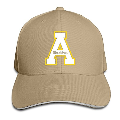 T121 Appalachian State University A Logo Sandwich Adjustable Hat Trucker Hat Black
