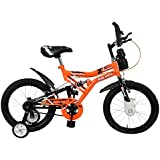 Mad Maxx Shocker 16T Steel Single Speed Kids' Road Cycle, 16 Inches For 5-7 years(Neon Orange)