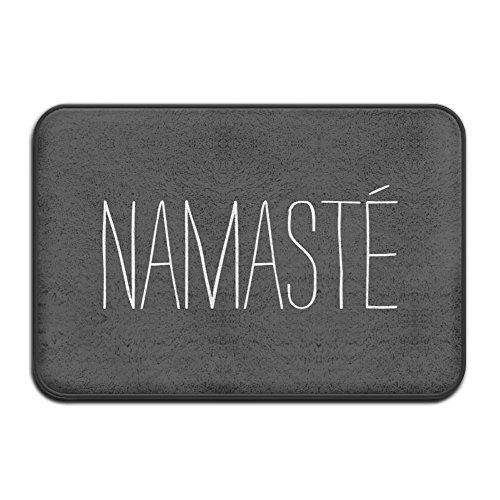 Bag hat Namaste I Bow to The Divine In You Super Absorbent Anti-Slip Mat,Funny Doormat,Indoor/Outdoor Decor Rug Doormat 23.6