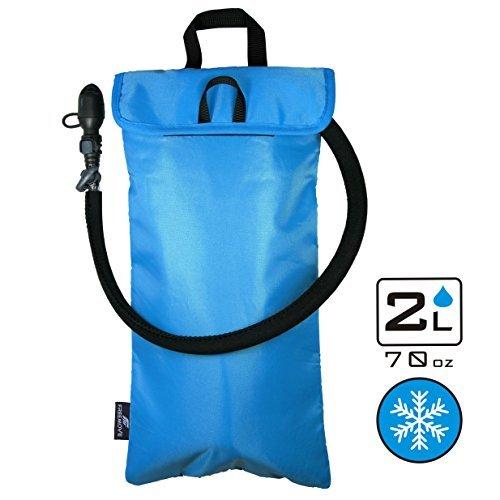 Freeemove Kühltasche und Schutzhülle für 2 l oder 3 l Trinkwasserblase, hält Wasser kühl und schützt die Blase, leicht und wasserabweisend, Blase ist nicht im Lieferumfang enthalten, 2L Sky blue -
