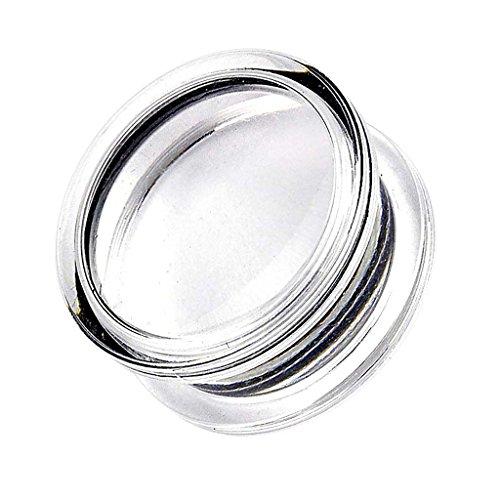 Piercingfaktor Ohr Plug Flesh Tunnel Piercing Ohrpiercing Acryl Kunststoff Foto Box 10mm Transparent