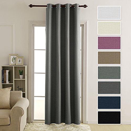 Deconovo tende per casa moderne con occhielli oscuranti termiche per il soggiorno 140x180 cm grigio scuro