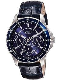 Guess Herren-Armbanduhr Analog Quarz Leder W0671G1