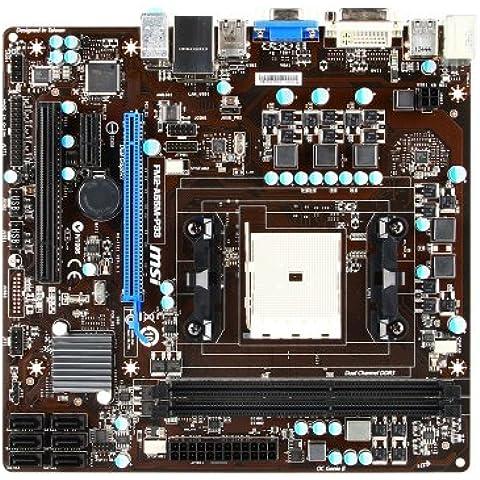 MSI FM2-A55M-P33 Mainboard Sockel FM2 (micro-ATX, AMD A55, VGA, DVI, 2x DDR3 Speicher, 6x SATA II, 8x USB