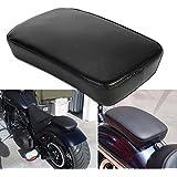 Ventosa, cojines Moto OSAN ventosa para pasajero-Cojín rectangular Harley Custom Chopper, color negro