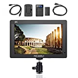 Feelworld FH7 On-Camera LCD Monitor 7'' Full HD 4K HDMI for Canon Nikon Panasonic DSLR Mirrorless Cameras, F550 Battery Kit Included