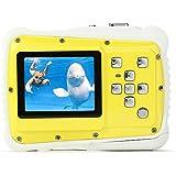 Pellor Kinder Unterwasser Sport Minikamera 2 Zoll HD-Bildschirm Digitalkamera, 3M Wasserdicht Staubdicht