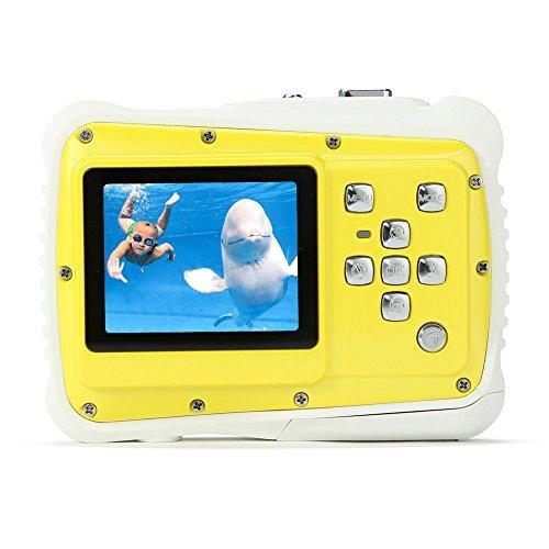 PELLOR Mini Caméra Etanches Anti-Choc Appareil Photo Enfants Jouet Extérieur (Jaune)