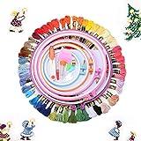 KING DO WAY 50 Stück embroidery tool set, 40 Stickgarn Multifarbe 1 Stickgarn 1 Stoff Stickgarn Zubehör Kreuzstich Stricken (77 pcs)