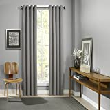 Best Eclipse Curtains Home Grommets - Eclipse Curtains Grommet Single Window Curtain Panel, Grey Review
