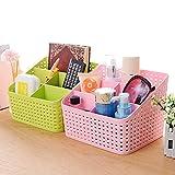 #9: Samplus Mall Plastic Storage Basket, Office Organizer, Kitchen Storage Box