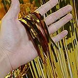 Metallic Fringe Foil Table Rock Tinsel Tabelle Vorhang für Luau Party-Geburtstags-Sommer-Jahrestag Weihnachten Tischdekoration Sunlera - 6
