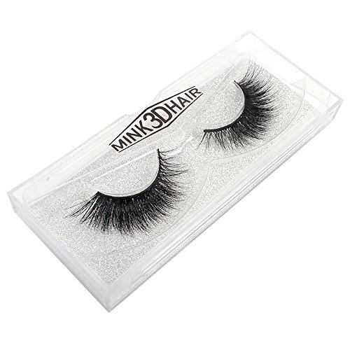 WYXlink 1 Pairs 100% 3D Haare Natural Dicke Make-up Augen falsche Wimpern (A) (En Vogue-haar-zubehör)