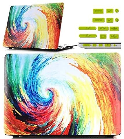 Vandot Colorful Swirl Printing PC Hard Case For Macbook Pro