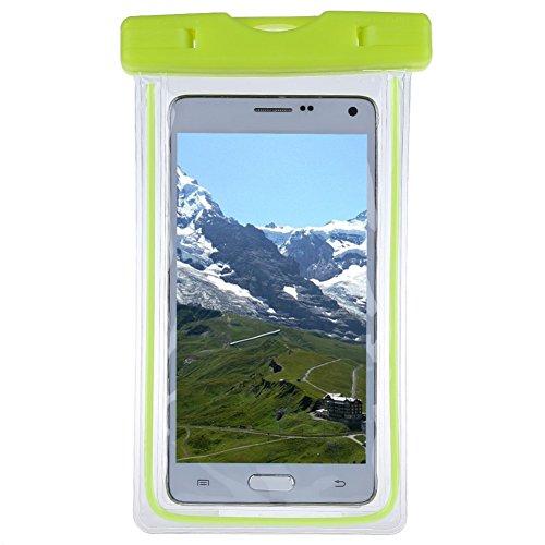 Bllomsem Wasserdichte Tasche, Wasser und staubdichte Hülle für Geld, Datenträger für alle 4~6Zoll Smartphone für Bootfahren/Wandern/Schwimmen/Tauchen Grün