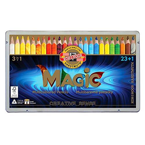 Koh-I-NOOR Magic Jumbo-Dreikant Farbstift (24Stück)
