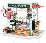 Rolife Miniatur Puppenhaus mit Möbel Handwerk Miniatur Kit DIY Dollhouse Kit Dekorationen Beste Geschenk für Kind und Erwachsene (Ice Cream Station)