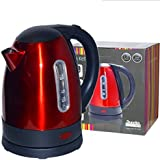 Dunelm Mill® Spectrum Stainless Steel Electric Jug Kettle 2000W 2KW 1.7L 1.7 Litre - Red