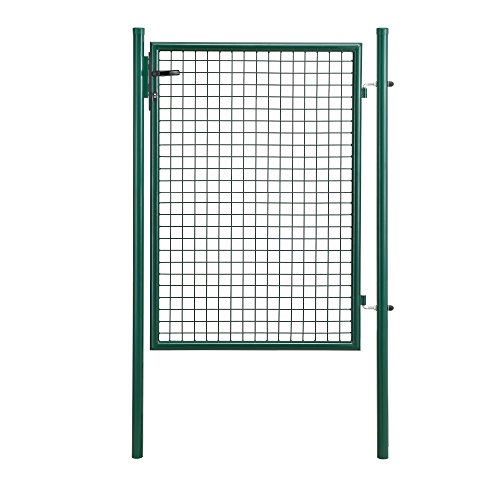 [pro.tec] Gartentür 175x106 grün Gartentor Zauntür Gartenpforte Gartenzaun Tür