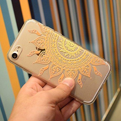 Cover iPhone 6/6S, XiDe Custodia iPhone 6/6S Ultra Sottile Leggera Soft Silicone Case Trasparente Chiaro Shell Antigraffio Antiscivolo Bumper per iPhone 6/6S - Fenicotteri Girasole