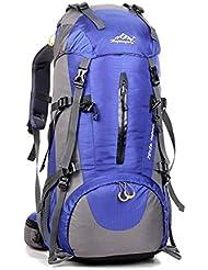 UM 50L Professionelle Erwachsene Trekkingrucksack, Wanderrucksack Reiserucksack Rucksack Mit Regenabdeckung Für Outdoor Reisen Camping Bergsteiger