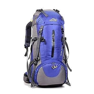 Mochila de 50 litros, ideal para deportes al aire libre, Senderismo, Trekking, Camping Travel, Escalada. Bolso impermeable del alpinismo, Daypacks que suben del recorrido, mochila, mochila
