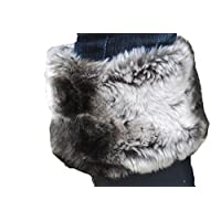 Welly Warmas Grey Wolf Faux Fur Topped Liner (Size 7-9) GREAT FOR XMAS!