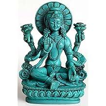 Figura de Buda –Laksmí, 14cm, Resina turquesa, Estatua de la Diosa de la suerte, la fertilidad, el amor y la Salud