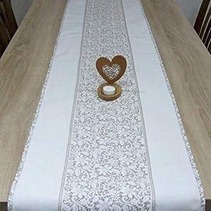 Wunderbare Tischläufer, das Beste Geschenk für die schönste Küche von HomeAtelier, Beige Spitze, 130x40cm, 150x40cm, 170x40cm