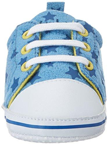 Unisex Turnschuhe marine Sterne Canvas Krabbelschuhe Blau Baby hellblau Playshoes qtw4dAaRq