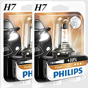 Philips H7 Vision +30% mehr Licht Halogen Lampen 12972PRB1, 1 Stück