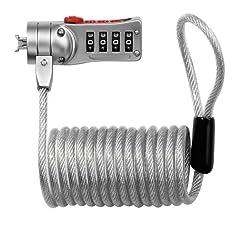 Masterlock 2120e 1.8m X 5mm Combi Computer Cable Lock