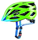 UVEX Kinder Air Wing LED Radhelm, Neon Green, 52-57 cm