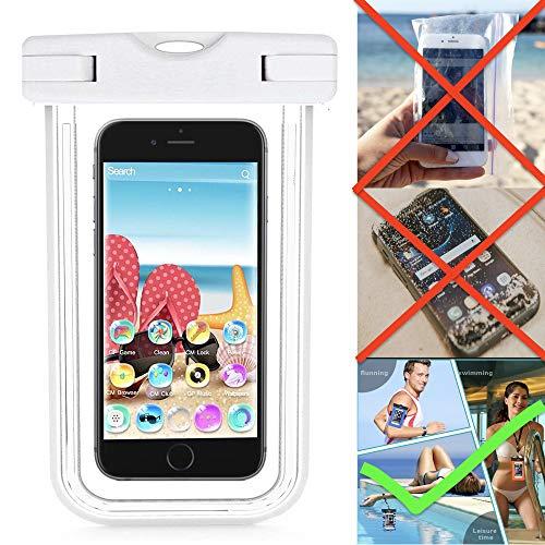 X-Tab Wasserdiche Handyhülle für Allview P7 Lite Strand Strandtasche IPX8 - HBB Weiß