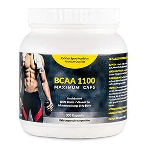 EXVital BCAA 1100 Maximum Caps, Aminosäure, 300 Kapseln in Spitzenqualität,...