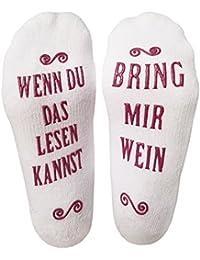 Luxuriöse Lustige Socken Aus Gekämmter Baumwolle Mit Der Aufschrift Bring Mir Wein – Das Perfekte Geschenk Für Gastgeber, Einweihungsfeiern, Geburtstage, Muttertag Oder Für Weinliebhaber