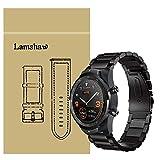 Ceston Edelstahl Metall Classic Ersatz Uhrenarmband Für Smartwatch TicWatch Pro (Schwarz)