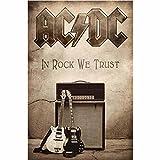 AC/DC In Rock We Trust Nue offiziell Textil-Flaggen-Plakat