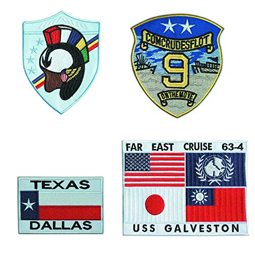 TOP GUN EMBROIDERED G1 FLIGHT JACKET PATCH SET 001 G1 Flight Jacket