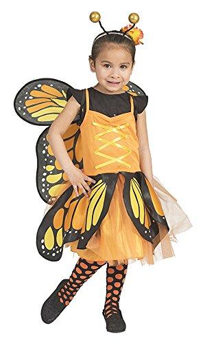 Schmetterling Belle Kostüm für Mädchen - Orange 3-5 Jahre