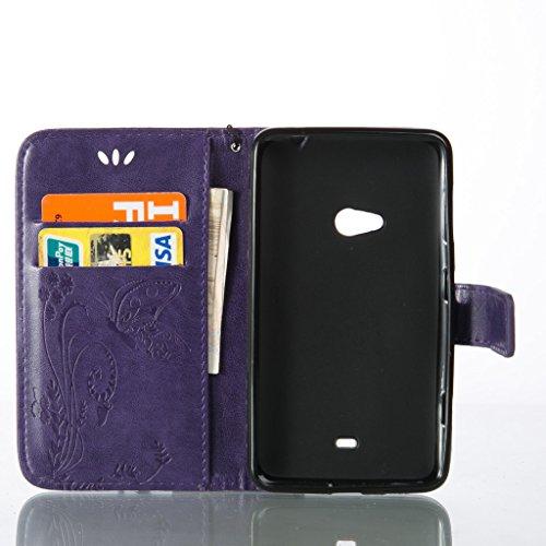 qimmortal Custodia Samsung Galaxy S7Edge, con protezione schermo temperato], qimmortal fiori e farfalle pattern pu portafoglio in pelle con porta carte di credito Cover per Samsung Galaxy S7Edge, Purple