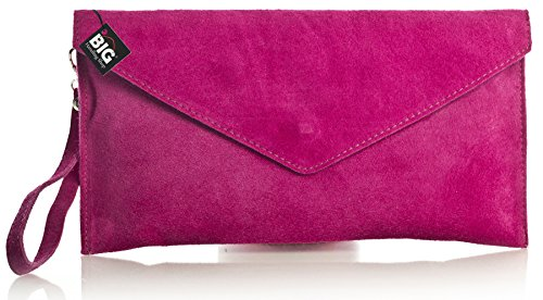 Big Handbag Shop, Borsetta da polso donna One Pink (GL332)